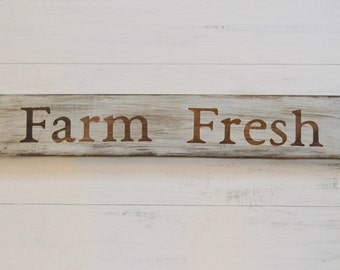 Farm Fresh Sign, Farm Sign, Farmhouse Sign, Farm Decor, Rustic Farm Sign, Food Signs, Kitchen Sign, Fixer Upper Inspired