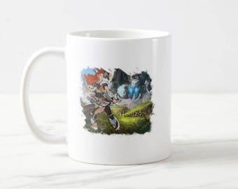 Horizon Zero Dawn Aloy and Stormbird double side two pictures Mug Cup 11oz White