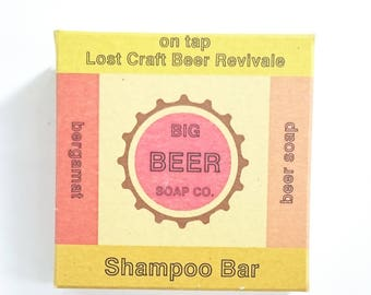 Beer Soap, Solid Shampoo Bar made with Lost Craft Beer