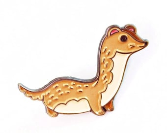 Ferret pin, weasel enamel pin, ferret enamel pin, ferret lapel pin, weasel pin, ferret button, ferret weasel, ferret badge, lapel pin game