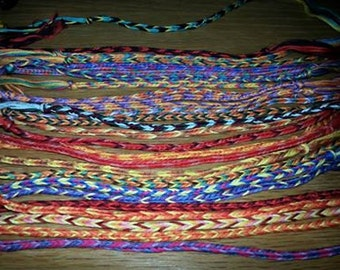 Personalised Cotton Bracelets
