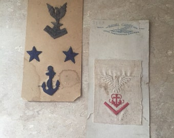 1910's military themed embroidered ensigns two cards