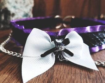 Purple Dragon Scale BDSM/Kitten Play Collar