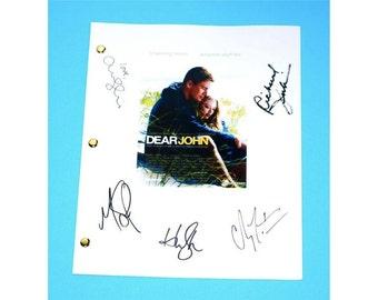 Dear John Movie Script Signed Screenplay Autographed: Channing Tatum, Amanda Seyfried, Scott Porter, Richard Jenkins, Henry Thomas