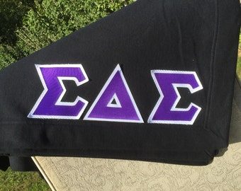 Blanket with Greek Letters! Custom made!