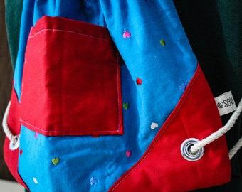 Corduroy Hearts Adventure Bag