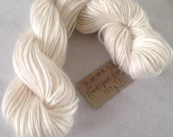 Banana Silk Handspun Yarn / Worsted Weight / Thick-Thin Slub / Ecru White / Very Soft / Sustainable Plant Fibre / 50g or 100g