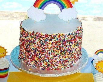 Sunshine & Rainbow Cake topper