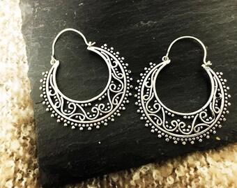 Ethnic tribal hoop earrings BOOMSAY Earrings entices