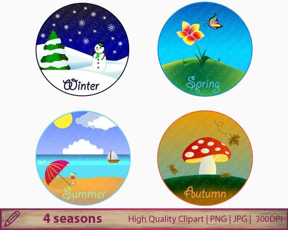 4 seasons clipart winter spring summer autumn clip art seasonal rh etsystudio com clipart seasons of the year clipart seasons of the year