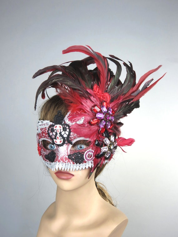 halloween masquerade feather mask ball mask costume ball