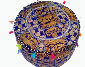 Handmade Ottomans made from vintage patches,ottoman,pouf,zafu,Moroccan Pouf,Foot-rest, Hand-stitched Pouf,stool,pouf ottoman,pouf ottoman