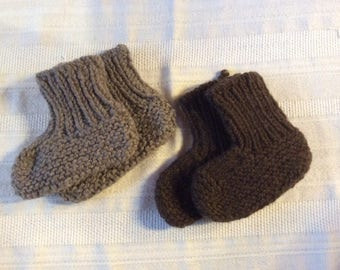 Toddler Booties in 100% Yak Down Handspun Yarn - 2501