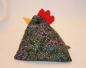 Chicken Pin Cushion, Chicken Decor, Shelf Sitter, Bowl Filler #114