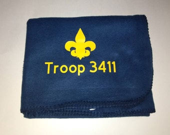 Personalized 50 x 60 fleece throw with FREE SHIPPING