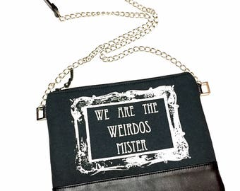 We Are The Weirdos Mister Bag, The Craft Bag, Weirdos Cross Body Bag, Witch Cross Body Bag, Leathet Cross Body Bag