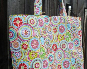 Foxy Tote with Zip Top, Large Zip Top Tote, Diaper Bag, Day Bag - READY TO SHIP!