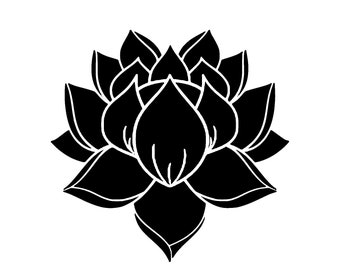 Lotus flower pattern Reusable Plastic stencil