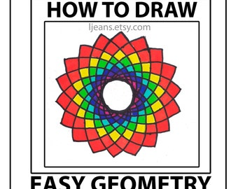 How to Draw Easy Geometry Dahlia Design Tutorial