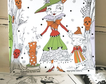 Susie's Whimsical Halloween Coloring Book