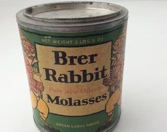 Brer Rabbit Molasses tin