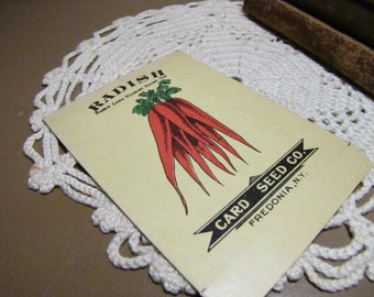 Vintage Seed Envelope - Card Seed Co. - Radish