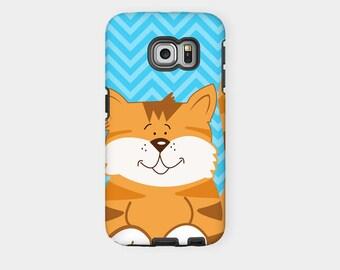 Orange Cat Samsung Tough Phone Case - Fits Samsung Galaxy All Sizes, Cute Cat Lover Phone Case