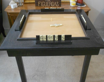 Solid  Wood Poplar Domino Table With Removable Legs