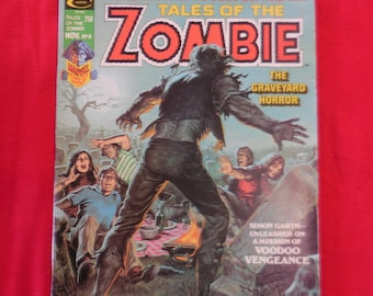 1974 Tales Of The Zombie #8 Comic Book Magazine Marvel Curtis
