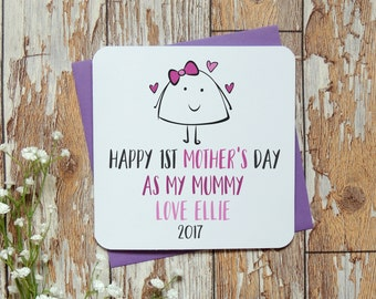 personalised 1st mother's day as my mummy 2017 card, mummy card, new mum card, new baby card, mommy card