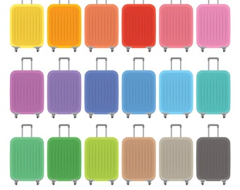 Luggage Digital Clipart