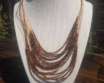 Seed Bead Necklace, Beaded Necklace, Seed Bead, Necklace, Statement Necklace, Layering Necklace, Handmade Necklace, Seed Bead Jewelry, bead