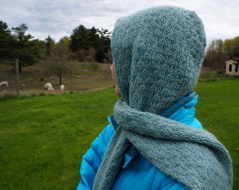 Knit Scoodie Scarf and Hood