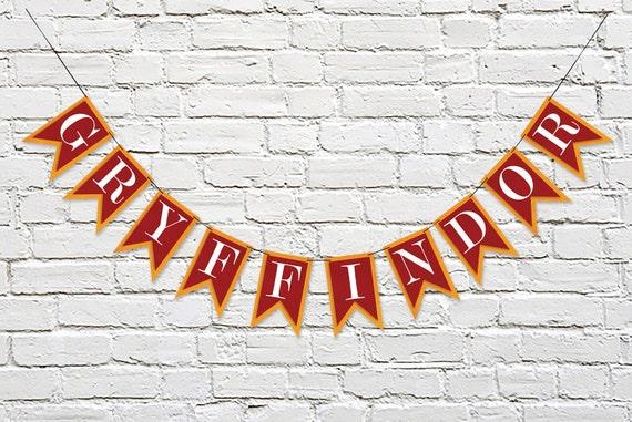 GRYFFINDOR House Banner Hogwarts School Harry Potter