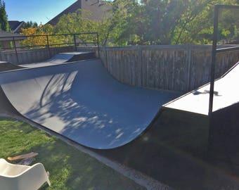 Skateboard, bicycle, bmx, scooter, rollerblade, inline skate custom metal mini ramp with micro mini ramp built in.