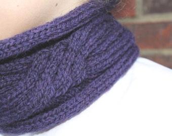 KNITTING PATTERN Carlota Cabled Knitting Pattern Short Cowl Womens Teenager Fashion Winter Accessory Neckwear Neckwarmer