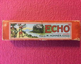 Antique German harmonica M Honher Echo 1930 s original box