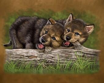 Wolf Pups - Print