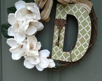 Custom letter D wreath