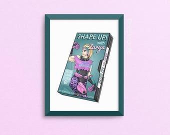 Zarya Overwatch Print - Totally 80s VHS