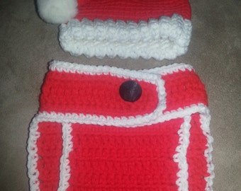 Crocheted Baby Christmas Set