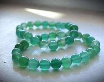 Green Aventurine Round Bead Bracelet