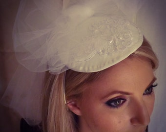 Small Traditional Wedding Hat