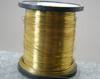 Brass wire ~ 0.3 mm gauge bare brass wire ~ Yellow brass wire ~ 28g brass wire ~ Jewellery supplies ~ Wire wrapping ~ Brass Jewelry wire ~