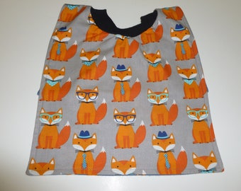 Fox pullover bib for babies or toddlers, baby gift, toddler gift