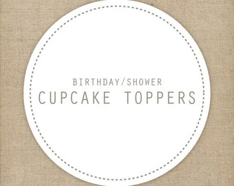 Matching cupcake toppers/ cupcake flags | Printable