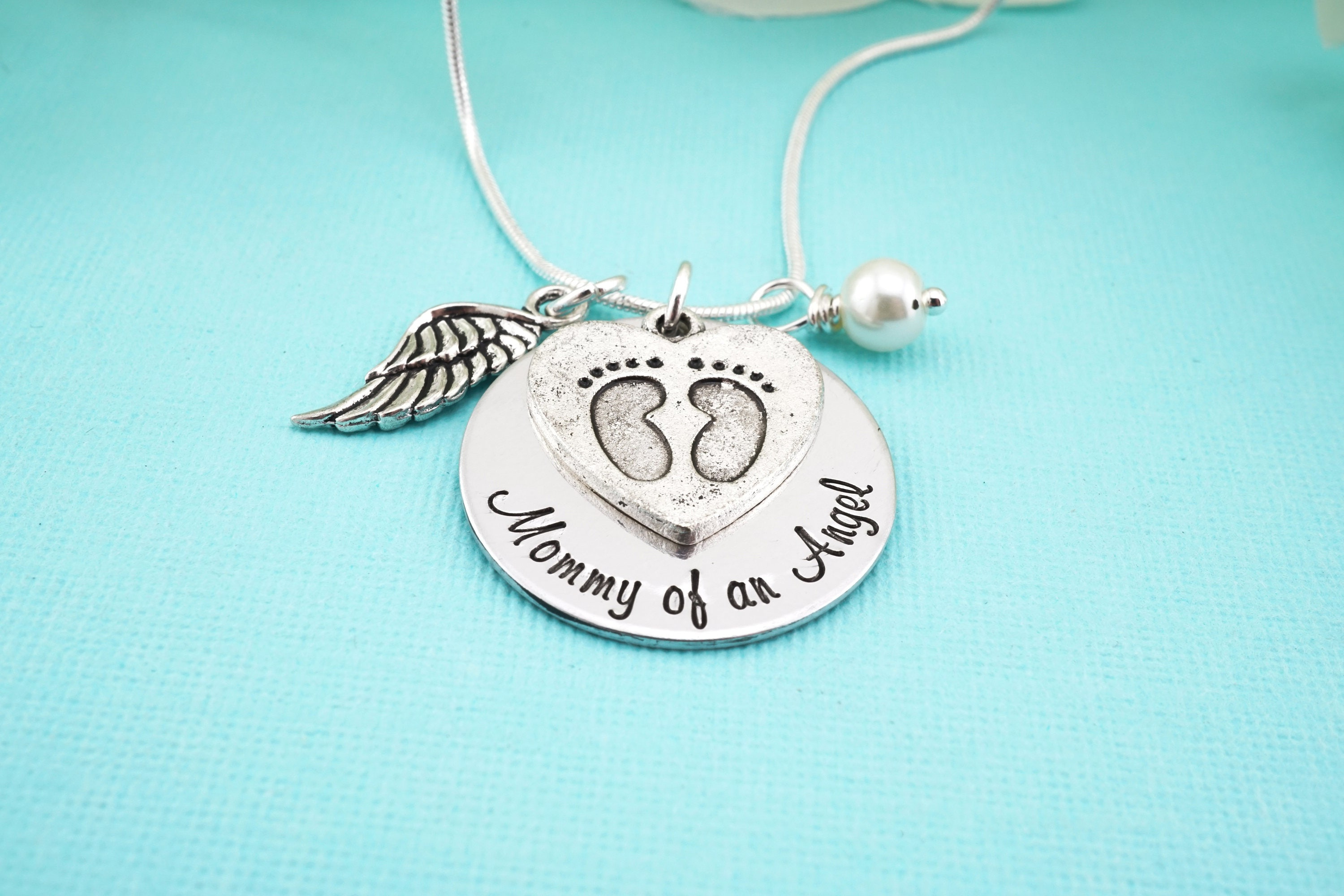 loss of necklace dp angel baby handmade personalized com amazon gift wing name miscarriage child
