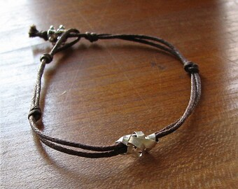 Cintas De Plata Sterling Ribbon Wrap Cotton Bracelet