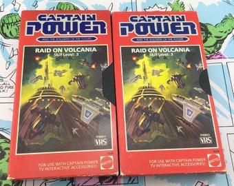 CAPTAIN POWER Mattel VHS - Raid on Volcania Skill Level 3 - Both Versions