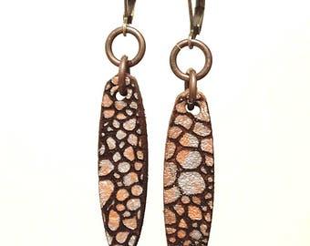Dragon Skin - Silver & Gold - Drop Earrings